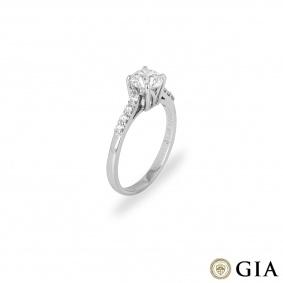 Platinum Round Brilliant Cut Diamond Ring 1.51ct E/VVS2